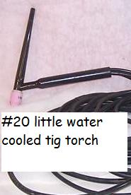 small water cooled tig torch 20
