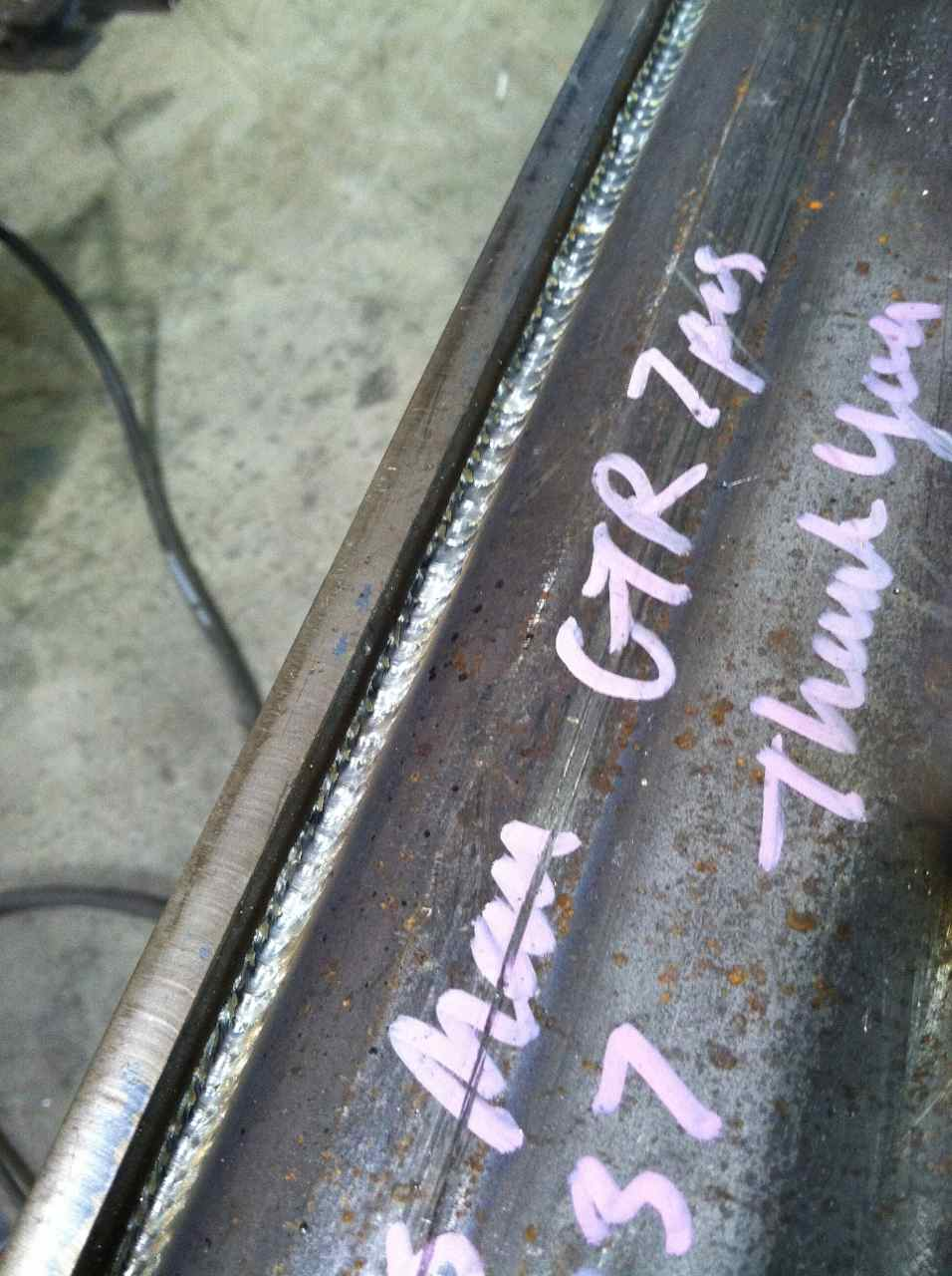 mig welds using lincoln powermig 350mp