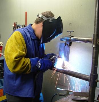 welding steel mig 3g test