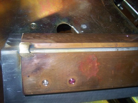 copper welding fixture for stainless