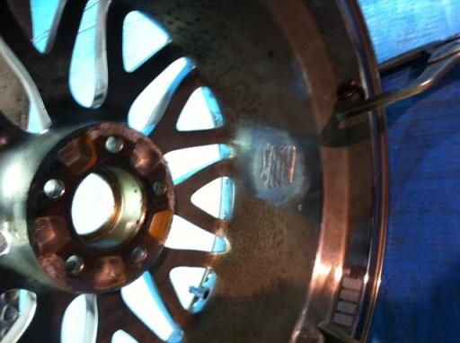 aluminum wheel welding  weld beads