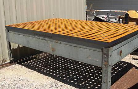Welding Table Designs weldsale cast acorn welding table Welding Table Cast Iron Platen