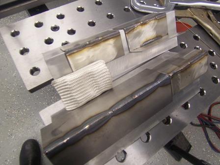aluminum backing for welding stainless