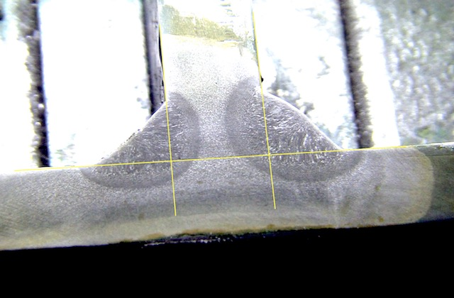 overhead flux core welding settings