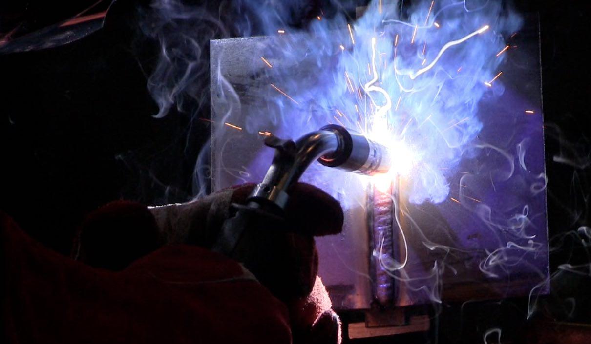 flux core welding test