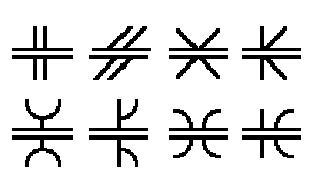 various groove weld symbols