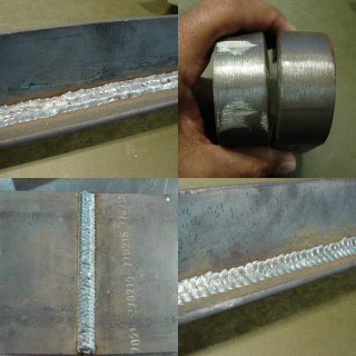 mig welds and bend test