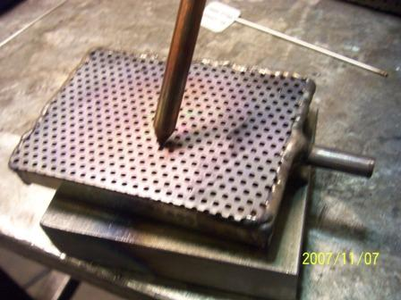 purge box perforated copper