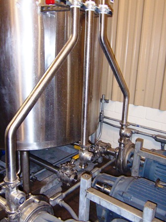 stainless steel pipe welds polished