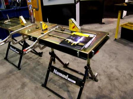 strong hand portable welding table