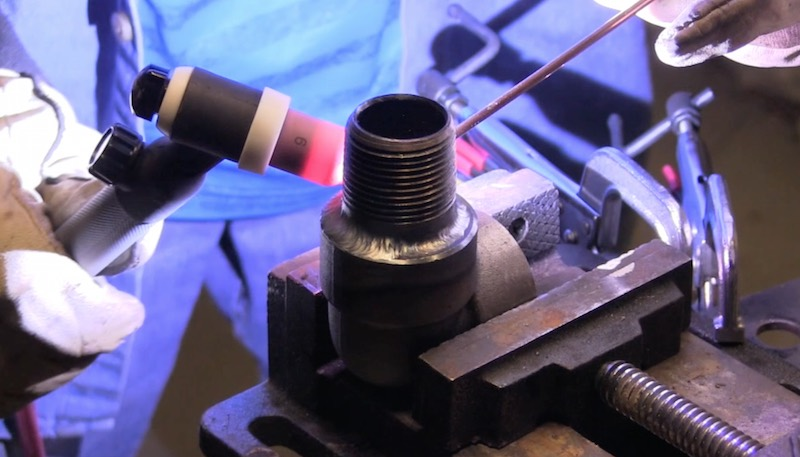 Socket welds with a lincoln power mig mp