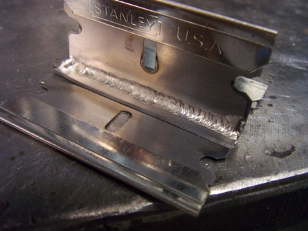 welding razor blades