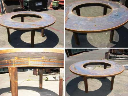 round welding table