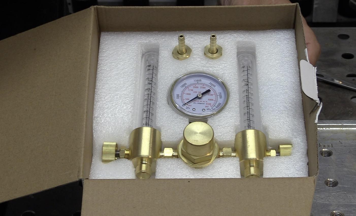 dual flowmeter for purging