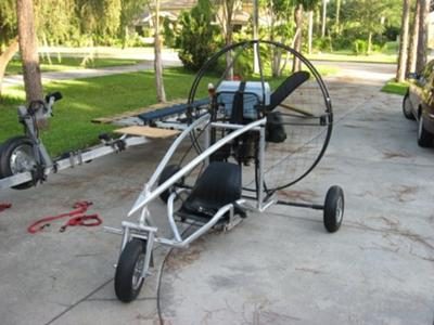 Trike with motor attached
