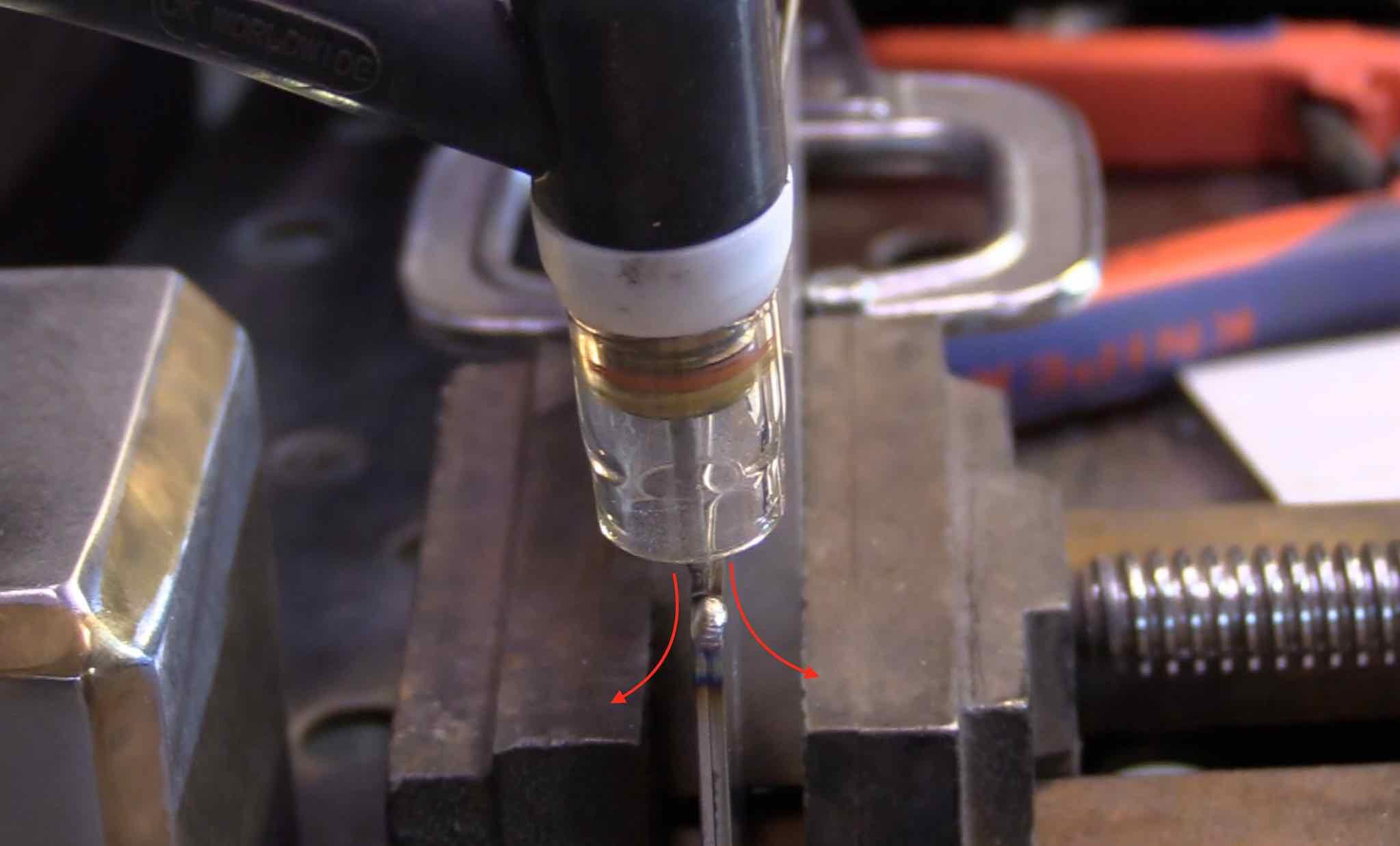 edge weld argon split flow
