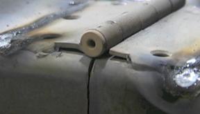 welded hinge