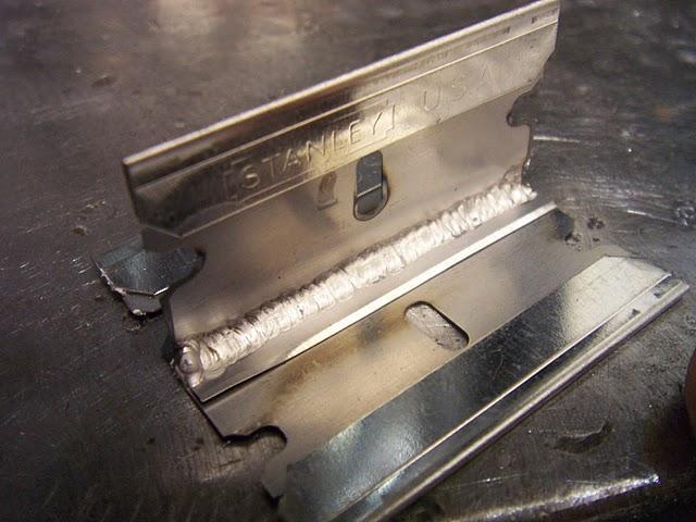 razor blade weld