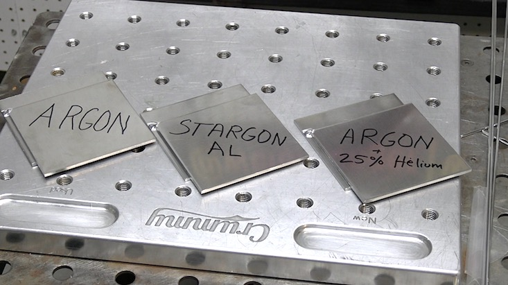 aluminum lap test pieces