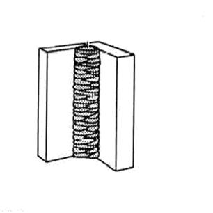 vertical tee joint