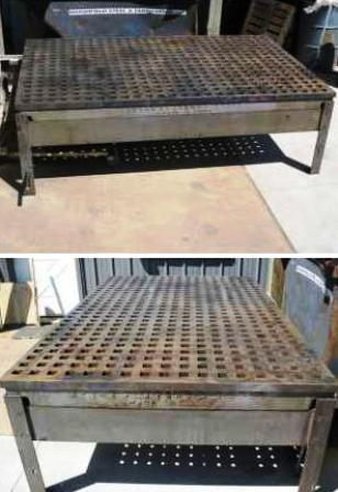 acorn cast iron platen welding table